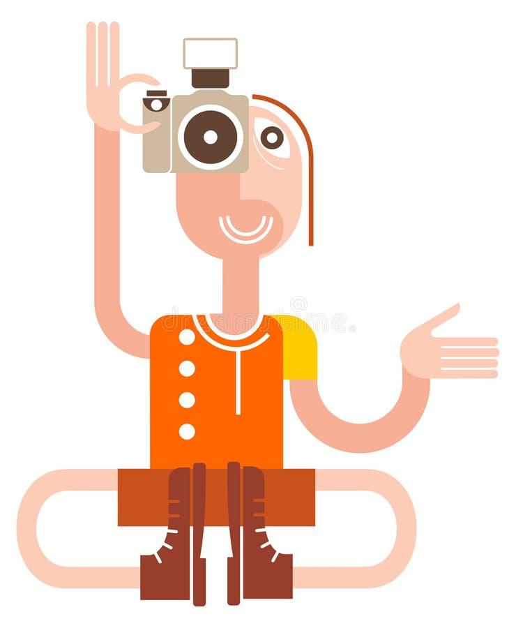 fotografyogi stock illustrationer