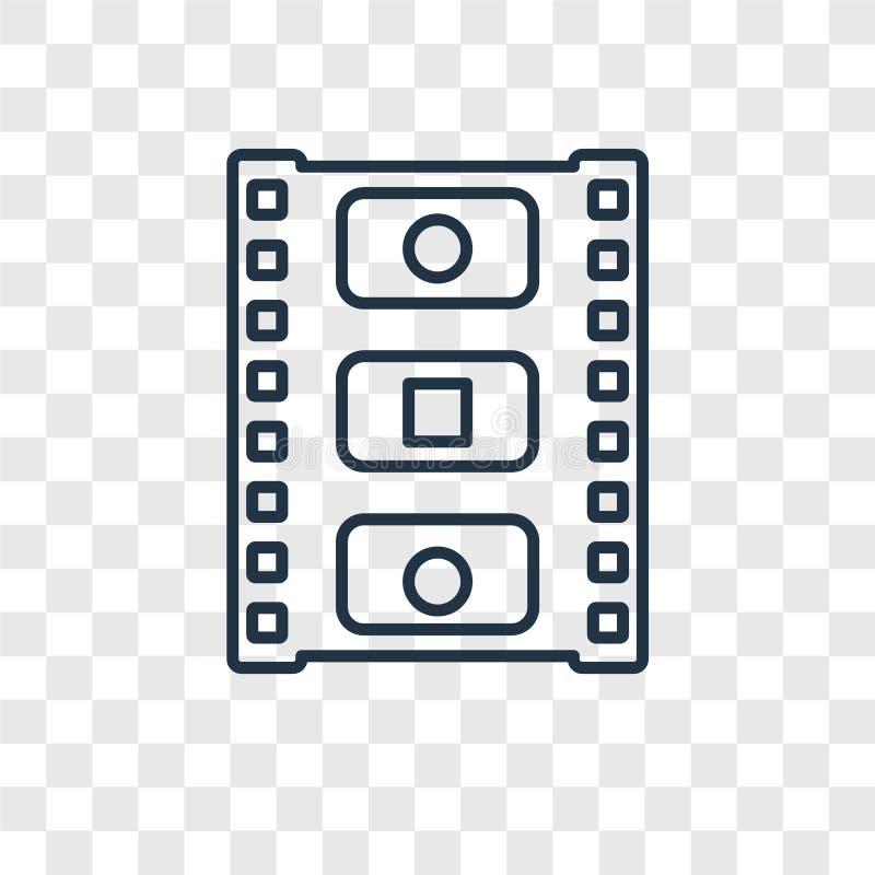 Fotograma pojęcia wektorowa liniowa ikona odizolowywająca na przejrzystym bac royalty ilustracja