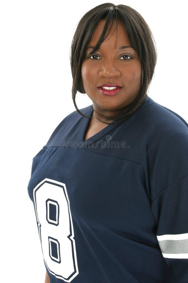 Fotographia di riserva: Una bella donna di 29 anni in Jersey fotografie stock