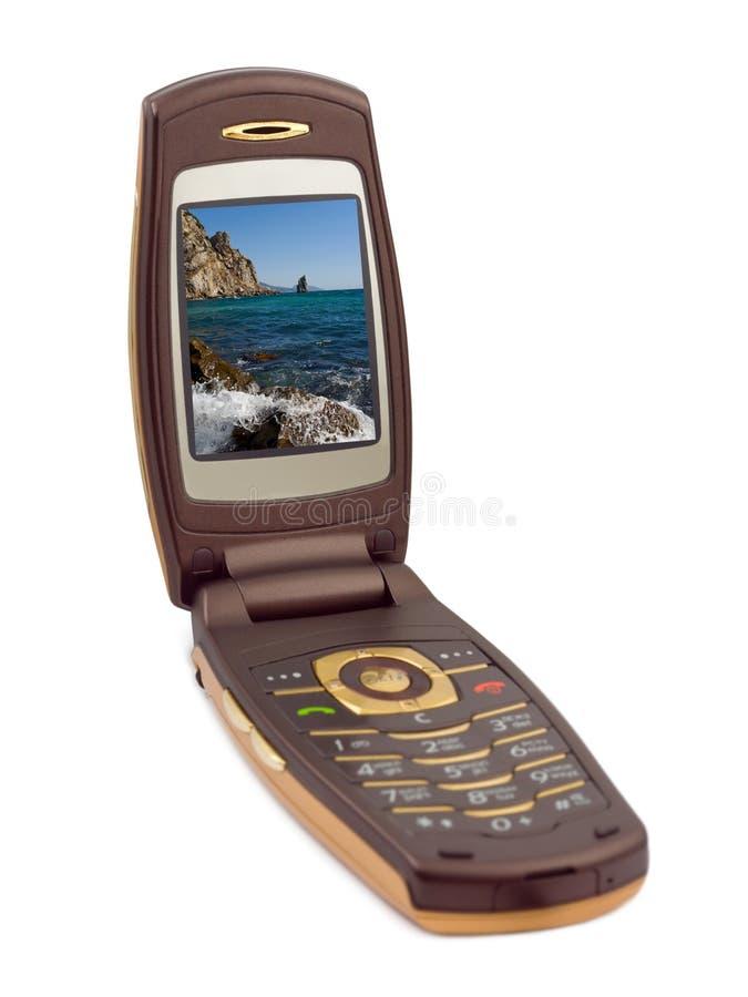 Fotographia sullo schermo del telefono fotografia stock