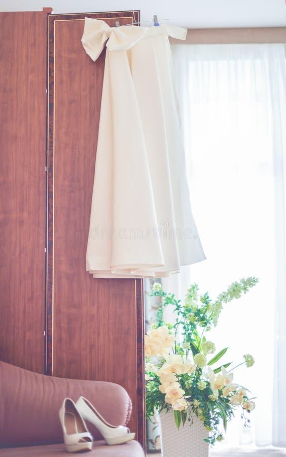 Fotographia verticale Preparazioni per le nozze fotografia stock libera da diritti