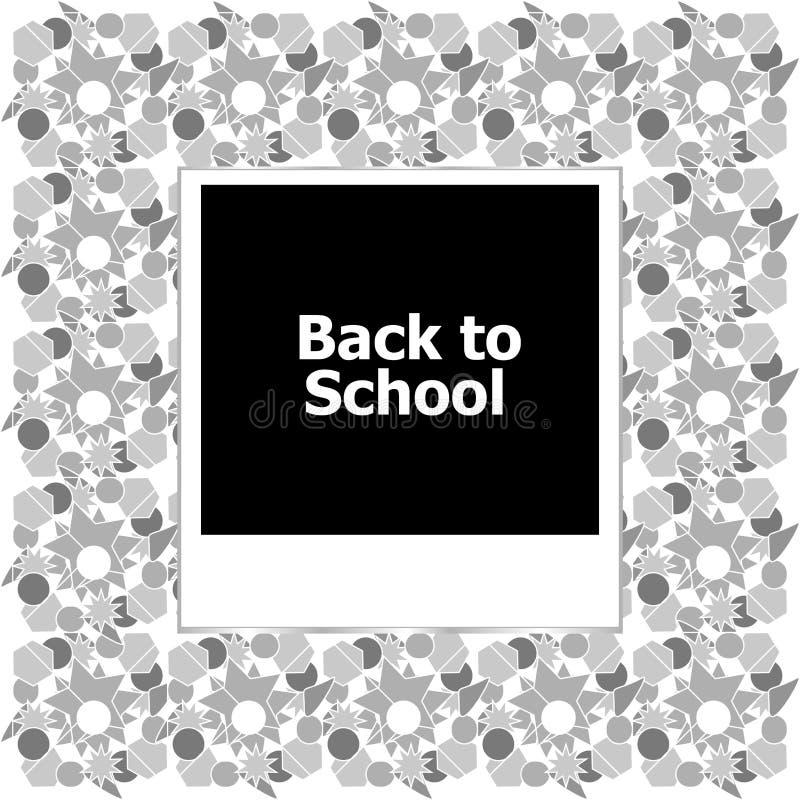 Fotokader terug naar school stock illustratie