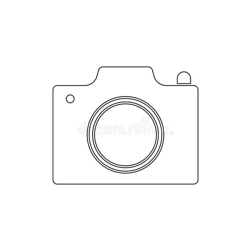 Fotokamera-Entwurfsikone Zeichen und Symbole k?nnen f?r Netz, Logo, mobiler App, UI, UX verwendet werden lizenzfreie abbildung