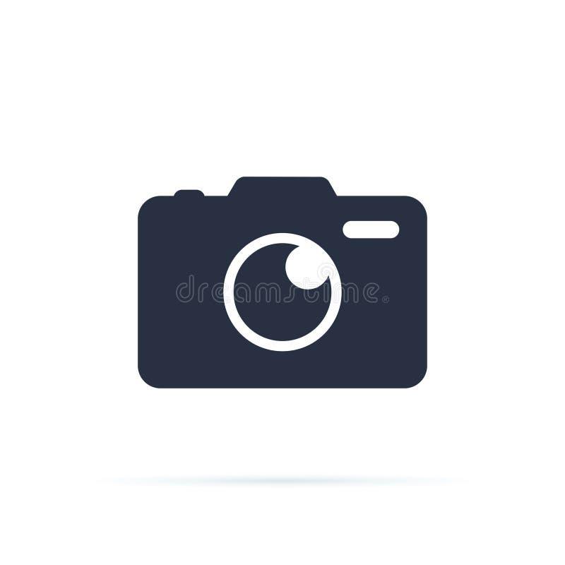 Fotokamera-Vektorikone Kameraikone, flacher photocamera Vektor lokalisierte Modernes einfaches Schnappschussphotographiezeichen vektor abbildung