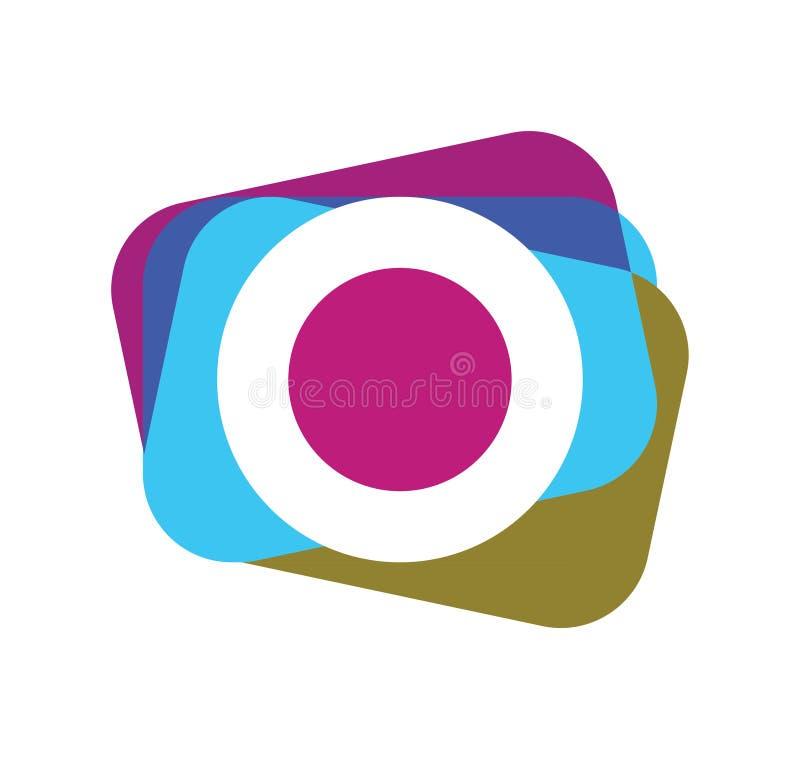 Fotokamerasymbol stock illustrationer