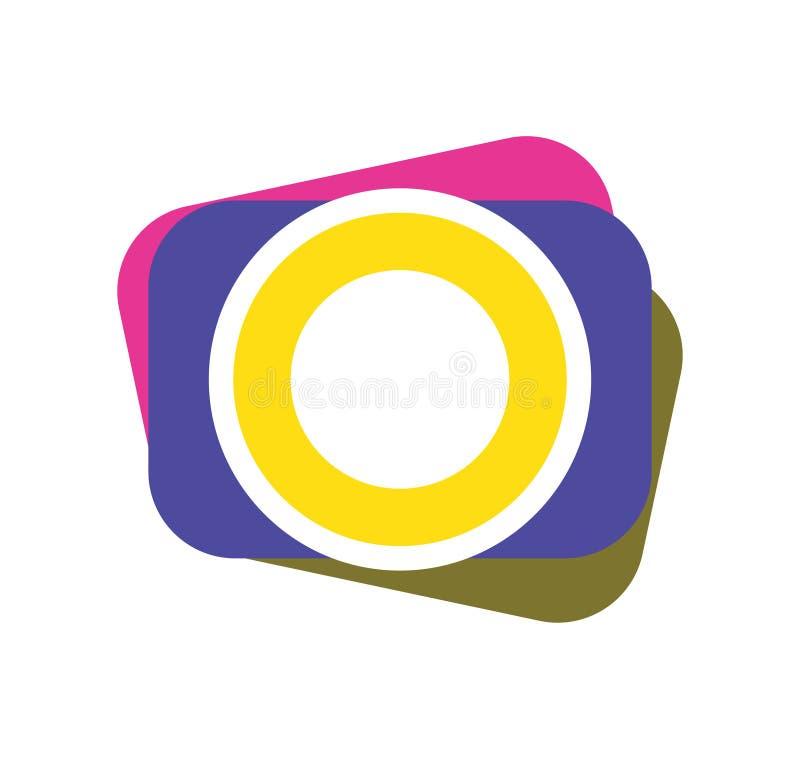 Fotokamerasymbol vektor illustrationer