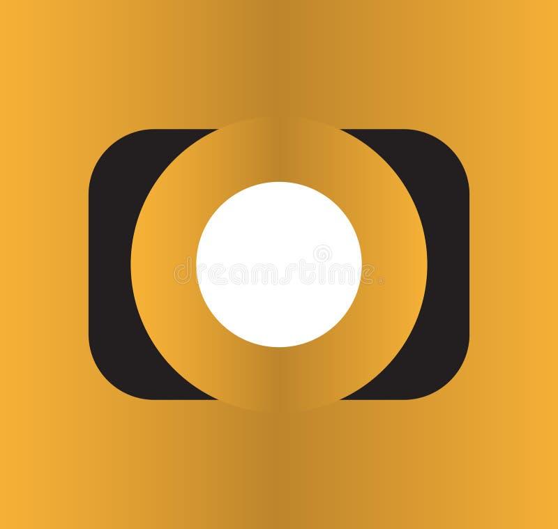Fotokamerasymbol royaltyfri illustrationer