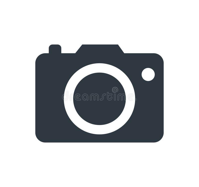 Fotokamerazeichen auf einem weißen Hintergrund stock abbildung
