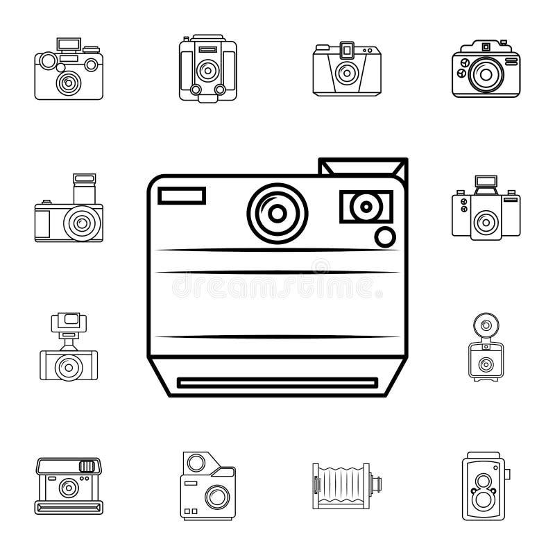 Fotokamerazeichen auf einem weißen Hintergrund Ausführlicher Satz Fotokameraikonen Erstklassige Qualitätsgrafikdesignikone Eine d lizenzfreie abbildung