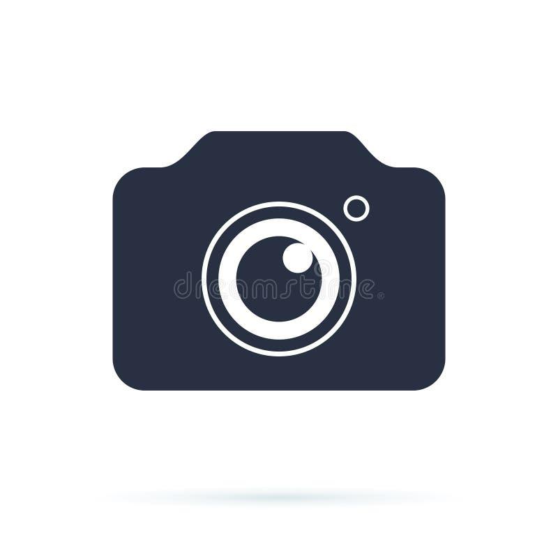 Fotokamerazeichen auf einem weißen Hintergrund Fotokameraikone Fotokamerasymbol für Ihr Netz lizenzfreie abbildung