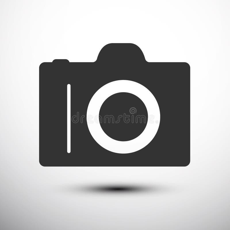 Fotokamerazeichen auf einem weißen Hintergrund Vektor lizenzfreie abbildung