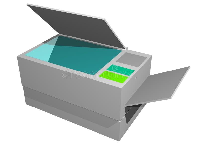 Fotokopierer-Drucker-Telefax-Maschine lizenzfreie abbildung
