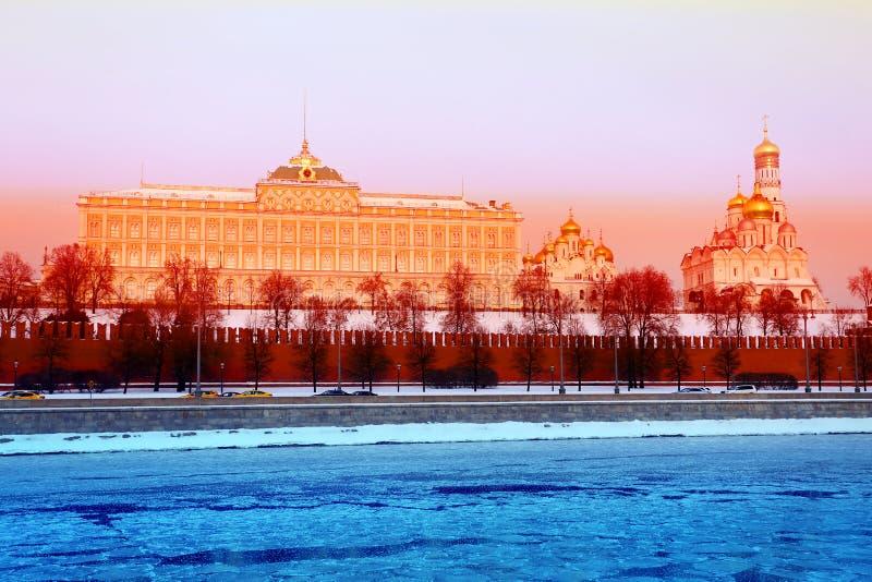 Fotolandskapfragment av MoskvaKreml arkivbild