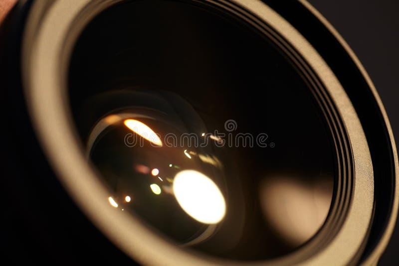 Fotolense med sunreflexioner. royaltyfria foton