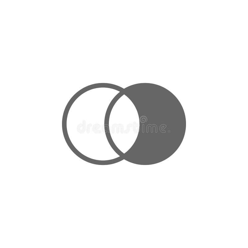 Fotoljusstyrka och symbol för kontrastinställningar Enkel beståndsdelillustration Symboldesign från fotokamerasamling kan använda stock illustrationer