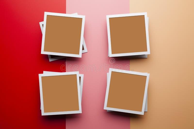 Fotomodellschablone - klassische Fotorahmen mit leerem Raum für Ihren Inhalt lizenzfreies stockbild