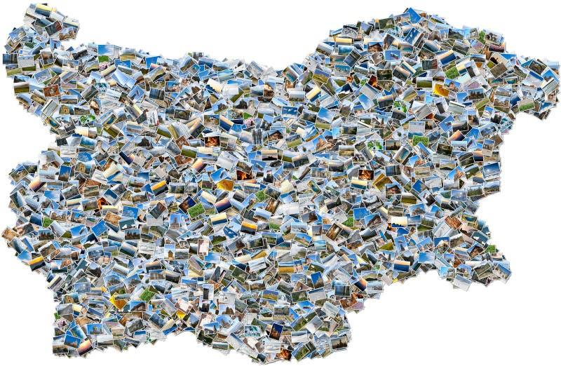Fotomosaik av den bulgariska översikten arkivfoton