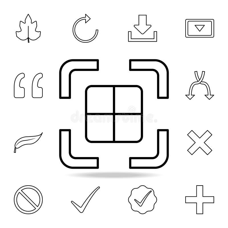 Fotoperspektivenikone Ausführlicher Satz einfache Ikonen Erstklassiges Grafikdesign Eine der Sammlungsikonen für Website, Webdesi stock abbildung