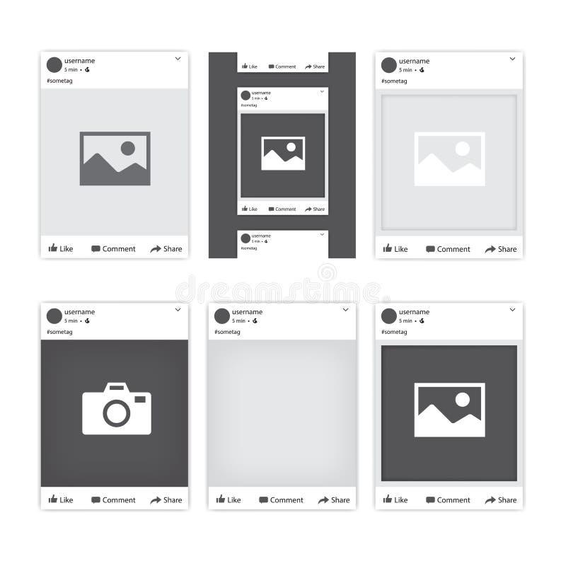 Fotorahmen Des Sozialen Netzes Facebook Vektor Abbildung ...