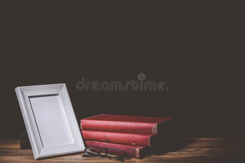 Fotorahmen- und -ausbildungsgegenstände stockbilder