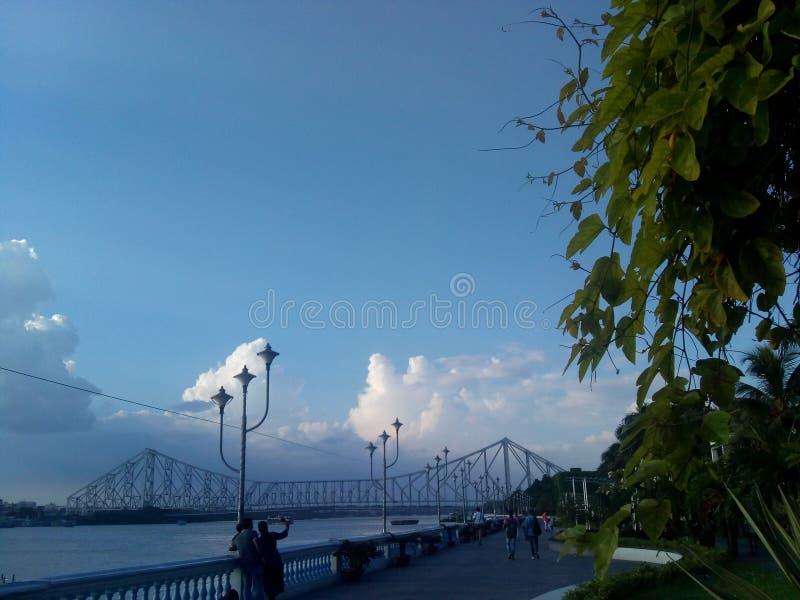Fotorahmen von Howrah-Brücke lizenzfreie stockbilder