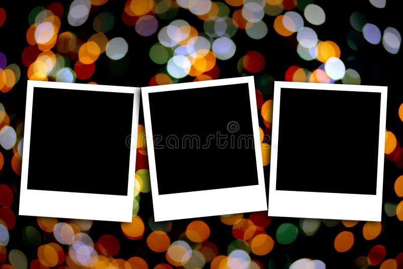 Fotoram på färgrik bakgrund royaltyfri foto