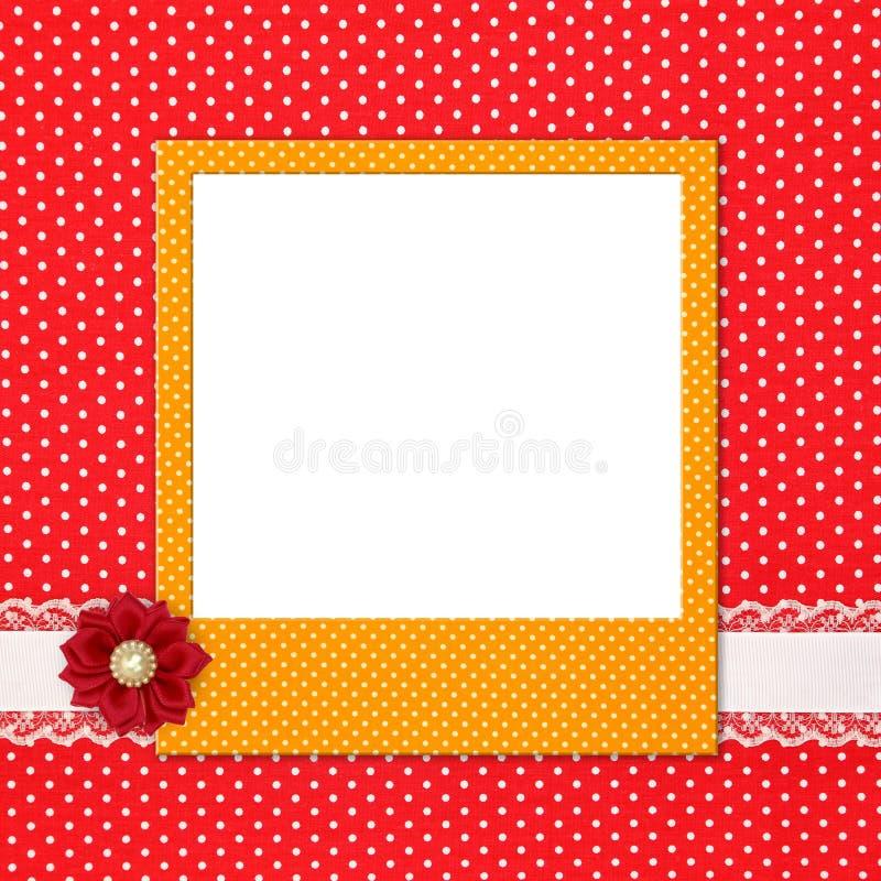 Fotoram på polka arkivbilder
