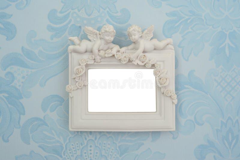 Fotoram på väggen arkivbild
