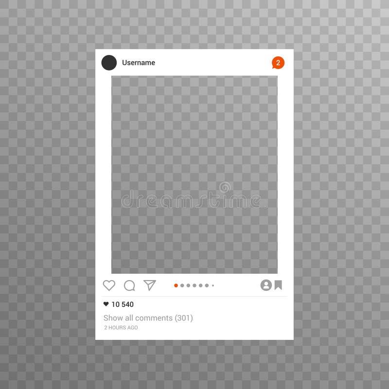 Fotoram som inspireras för att dela för väninternet stock illustrationer