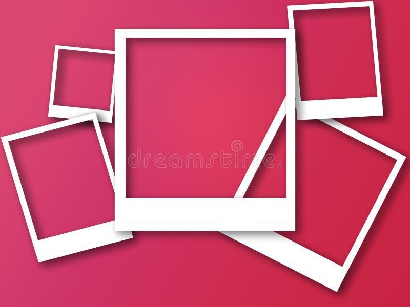 Fotoramar med utrymme för text och mjuk skugga royaltyfri illustrationer