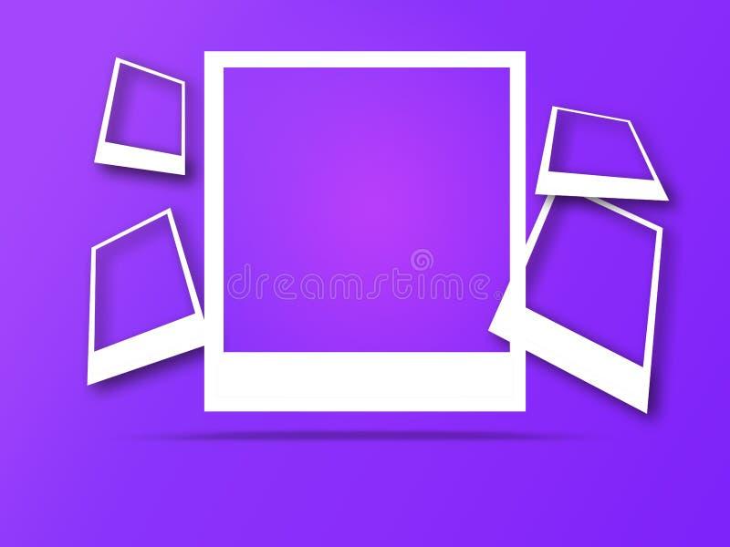 Fotoramar med utrymme f?r text och mjuk skugga stock illustrationer