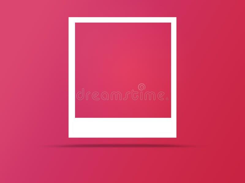 Fotoramar med utrymme f?r text och mjuk skugga royaltyfri illustrationer