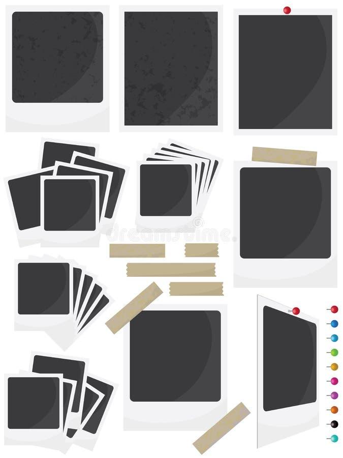 FotoramSet royaltyfri illustrationer