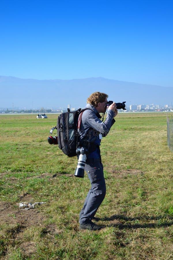 fotoreporter zdjęcie stock