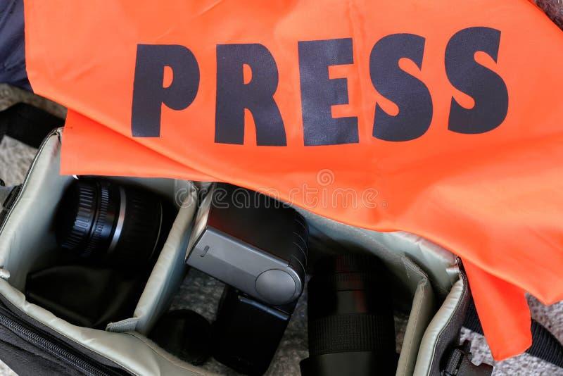 fotoreporter sprzętu zdjęcie stock