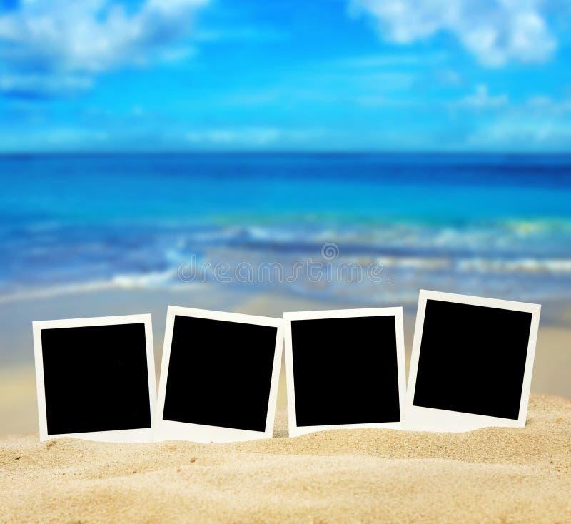Fotos auf dem Strand stockfoto