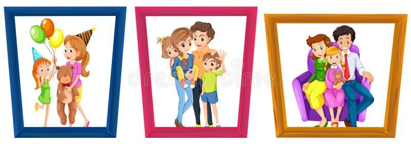Fotos de familia ilustración del vector