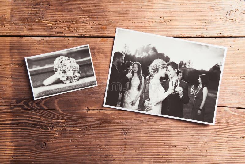 Fotos de la boda foto de archivo