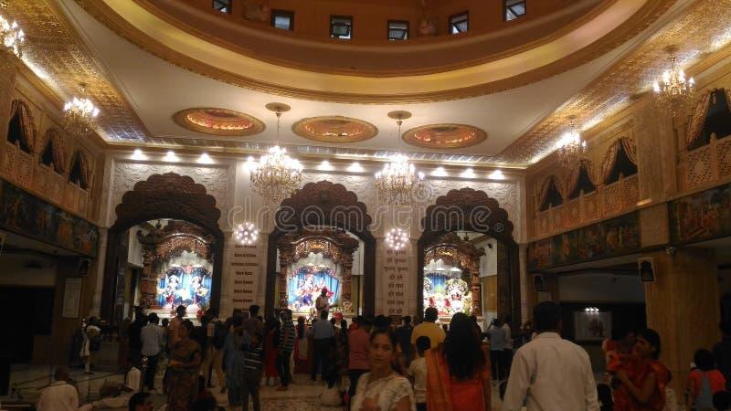 Fotos desde adentro del templo de ISKCON en Pune fotos de archivo libres de regalías