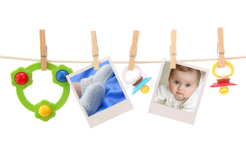 Fotos do bebê fotografia de stock royalty free
