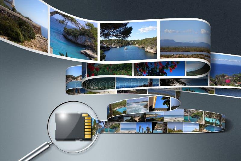 Fotos do feriado da economia do cartão do SD ilustração royalty free