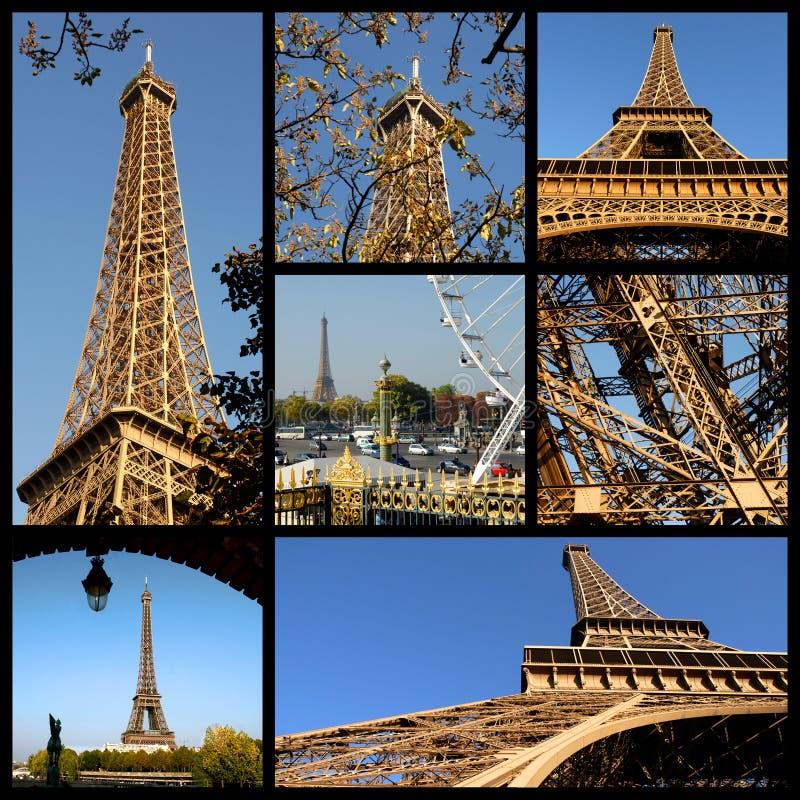 Fotos do mosaico da torre Eiffel em Paris imagens de stock