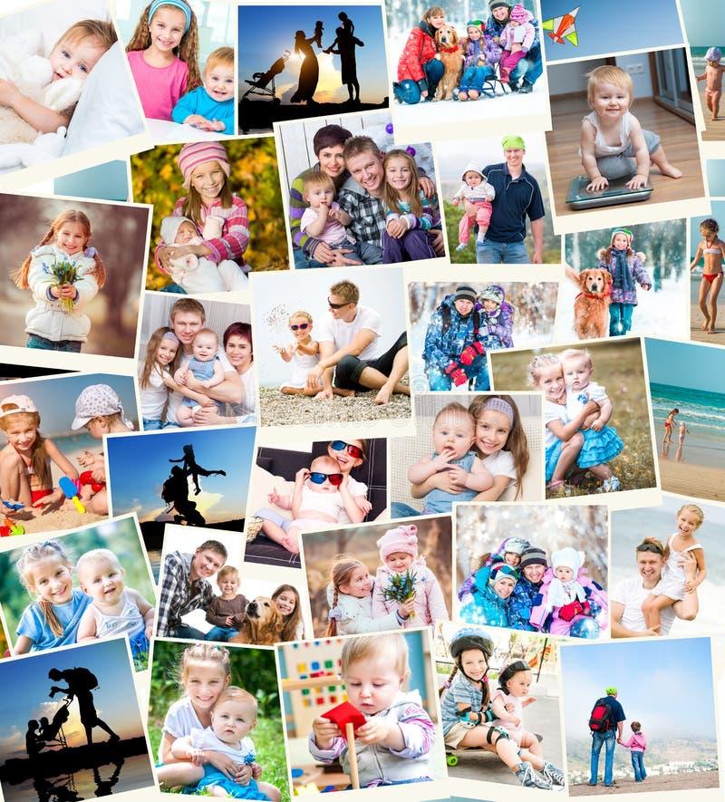 Fotos do polaroid da família foto de stock