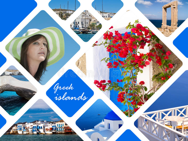 Fotos do verão das ilhas gregas, Grécia imagem de stock royalty free