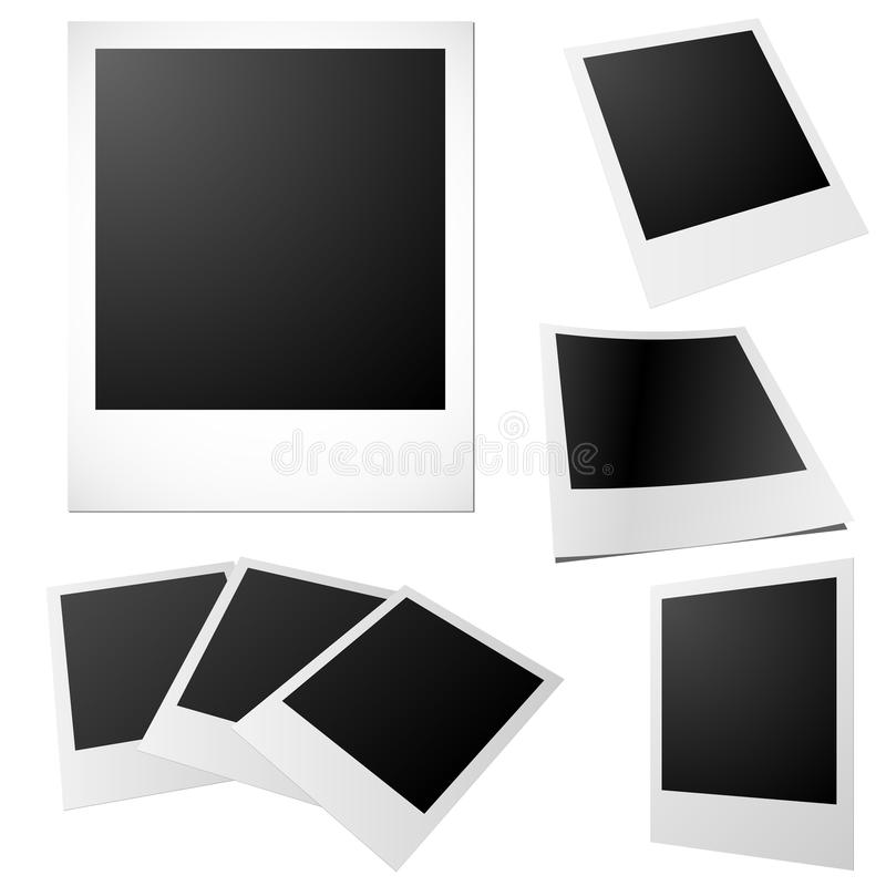 Fotos em branco ilustração royalty free