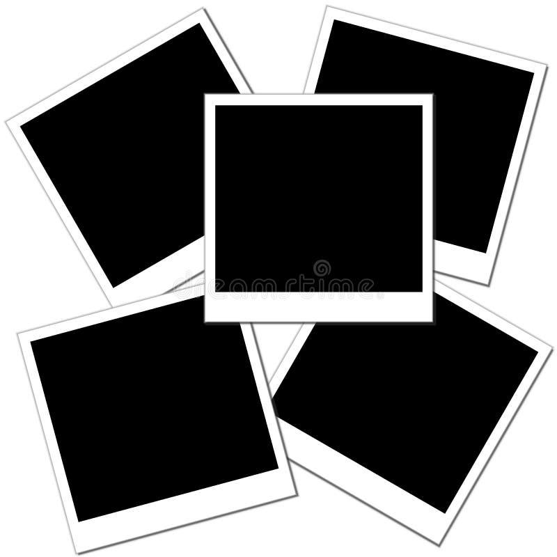 Fotos em branco ilustração stock