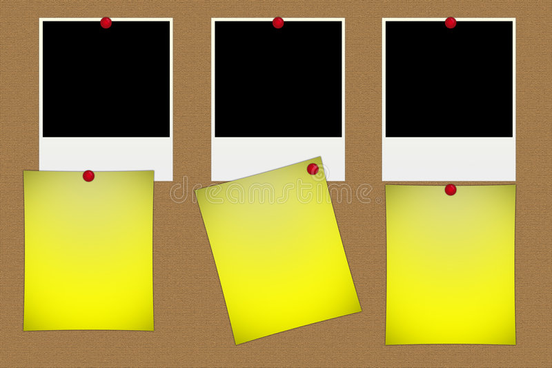 Fotos em branco do polaroid ilustração royalty free