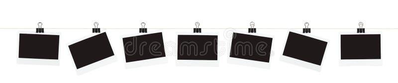 Fotos em uma corda fotos de stock