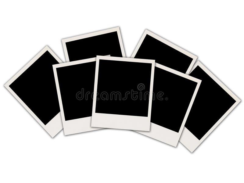 Fotos en blanco en blanco foto de archivo libre de regalías