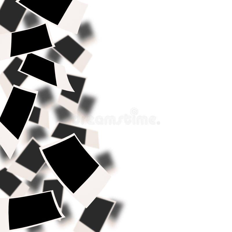 Fotos en blanco que caen fotos de archivo libres de regalías